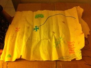Justin treasure map