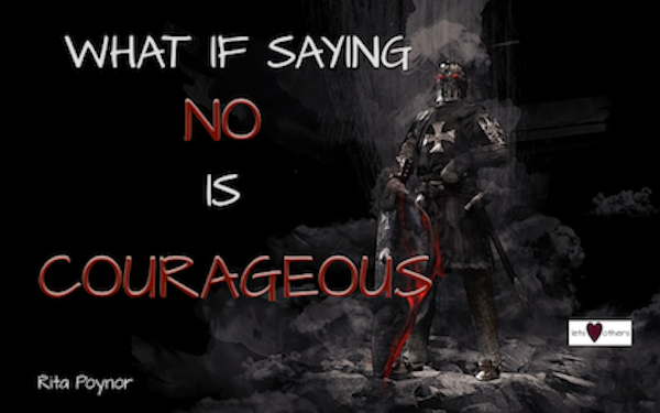 No A Courageous Word